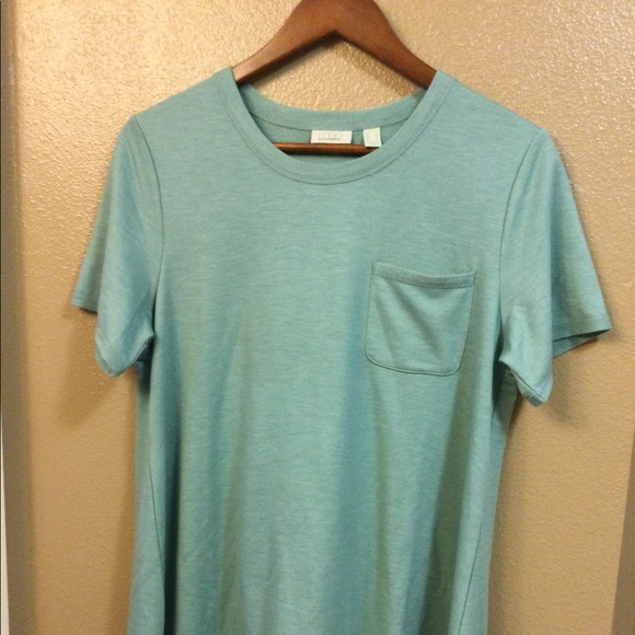 LOGO MINT GREEN HIGH LOW HEM SM TVOP FRONT POCKET